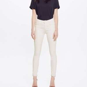MOTHER  Looker High Waist Fray Ankle Skinny Jeans